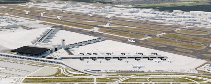 Flughafen Terminal 3 – 2. Bauabschnitt – Flugsteig G, Frankfurt